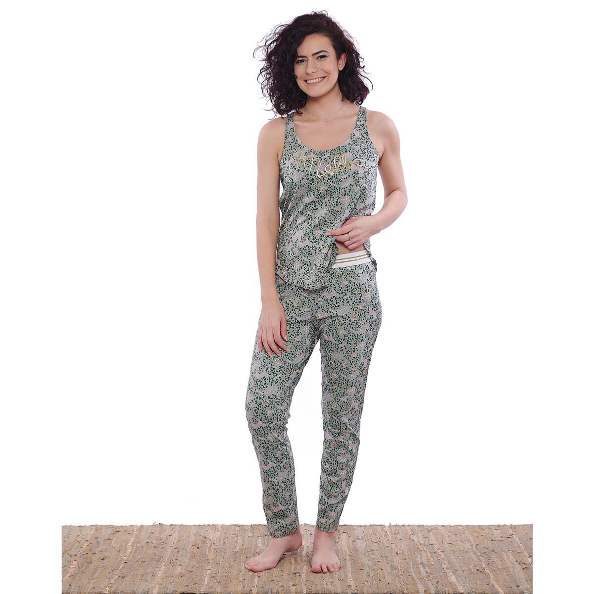 70b160ab5dc27 Pyjama 2 pièces coton femme manches courtes